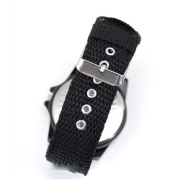 Military Style Canvas Belt Luminous Quartz Watch