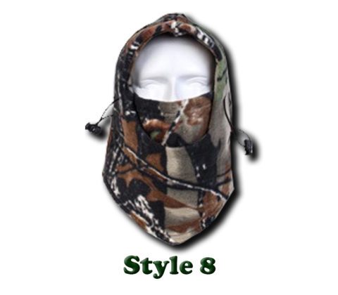 Camo Thermal Fleece Face Mask - Offer