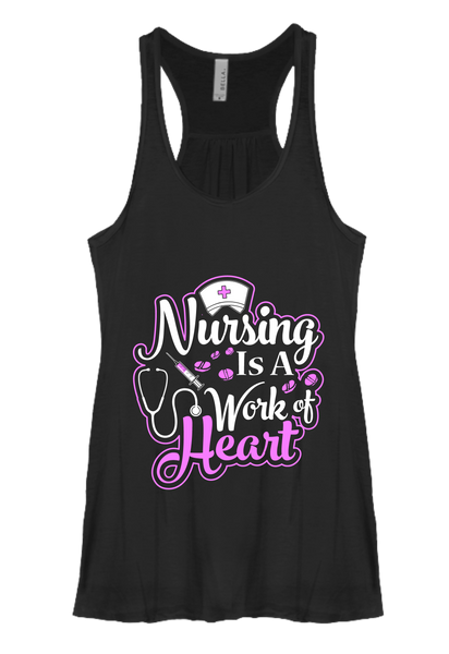Nursing is a Work of Heart Flowy Tank [Runs Small]