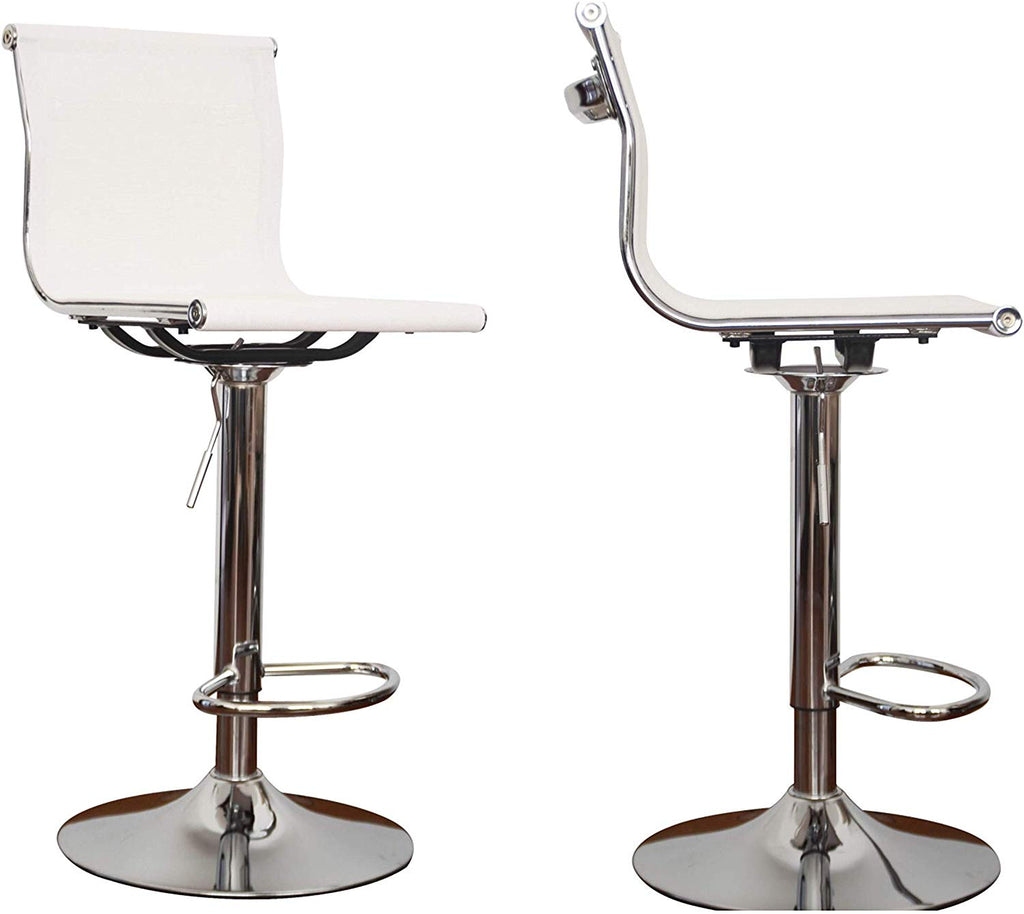 Barstool Eames inspired full seat and back - aeroflow white mesh - Sold in a PACK OF 2