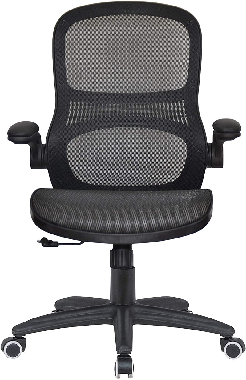 Big and Tall Ergonomic Netting Executive Heavy Duty Office Chair with Flip Arms
