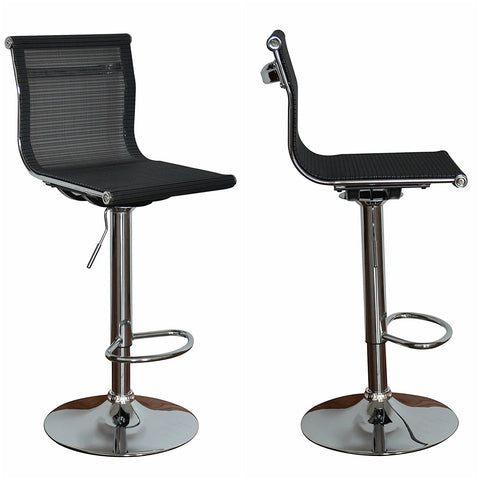 Barstool Eames inspired full seat and back - aeroflow dark grey mesh - Sold in a PACK OF 2 - US Office Elements