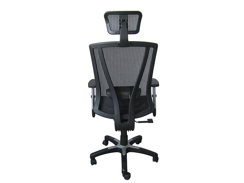 Ergonomic Executive Office Chair - Black Breathable Mesh with Adjustable Lumbar Support - Upto 225lbs - US Office Elements