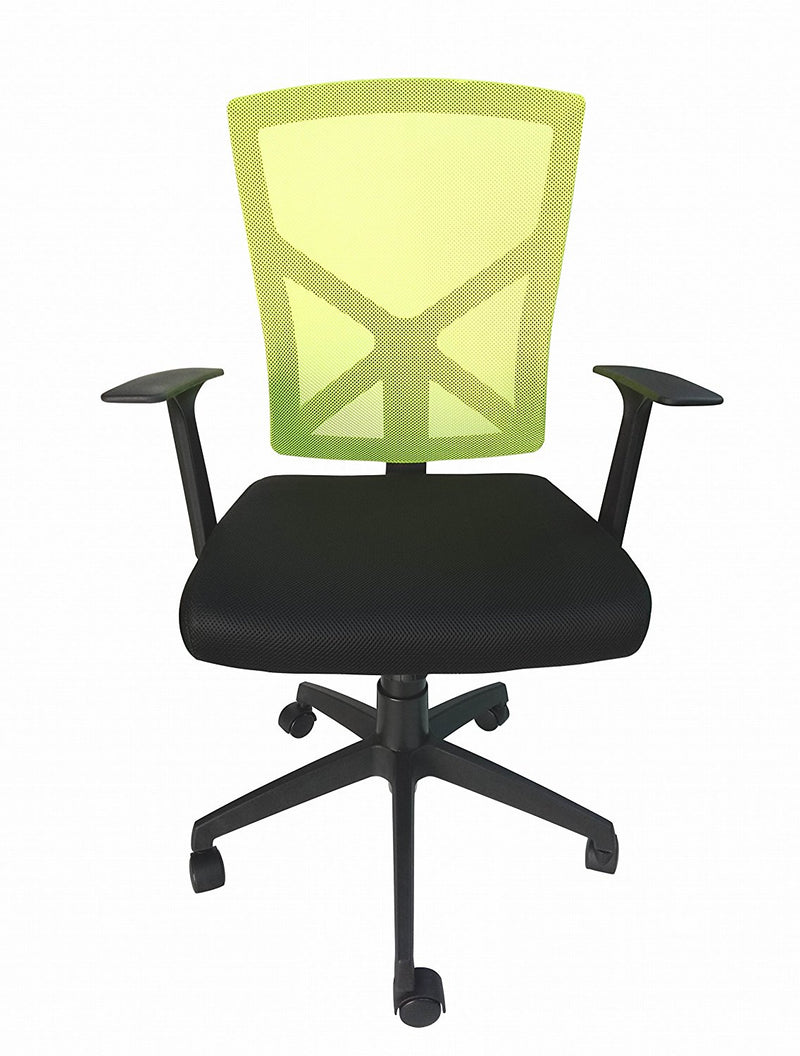 Medium Back Operator Office Chair - Green Breathable Mesh Backrest - US Office Elements