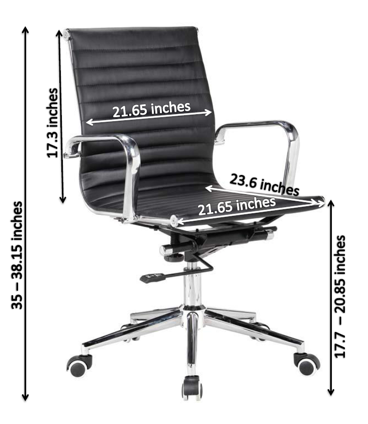 office chair eames. eames chair morden midback office r