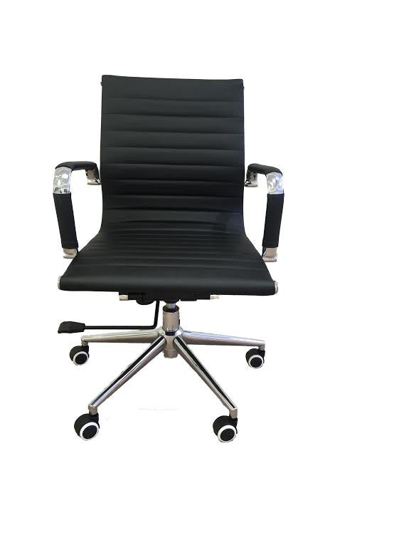 eames chair, morden chair, midback office chair, mid-back office chair, eames ribbed office chair, contemporary office chair, eames office chair