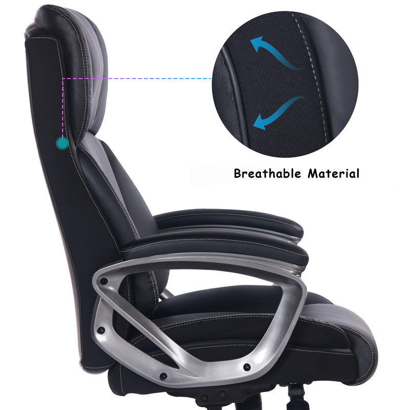 Big and Tall Black Executive Leather Office Chair
