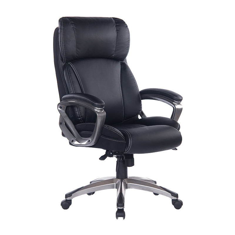 Big and Tall Black Executive Leather Office Chair - Supports up to 1000Lbs Body Weight