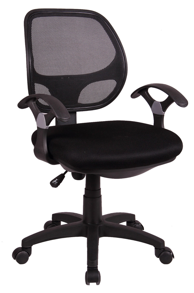 MESH MIDIUM BACK TASK CHAIR - front side view