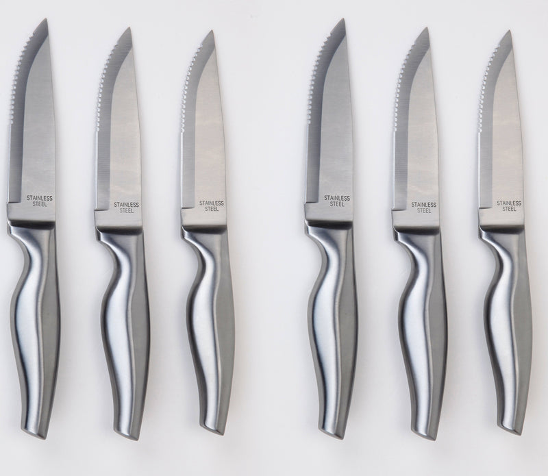 6 Piece Hollow Handle Big Steak Knife - US Office Elements