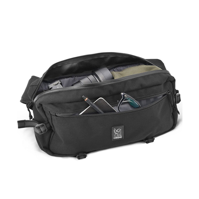 Chrome Industries : Kadet Nylon Messenger Bag : Black/Aluminum