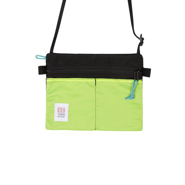 Topo Designs: Accessory Shoulder Bag : Black/Neon Yellow