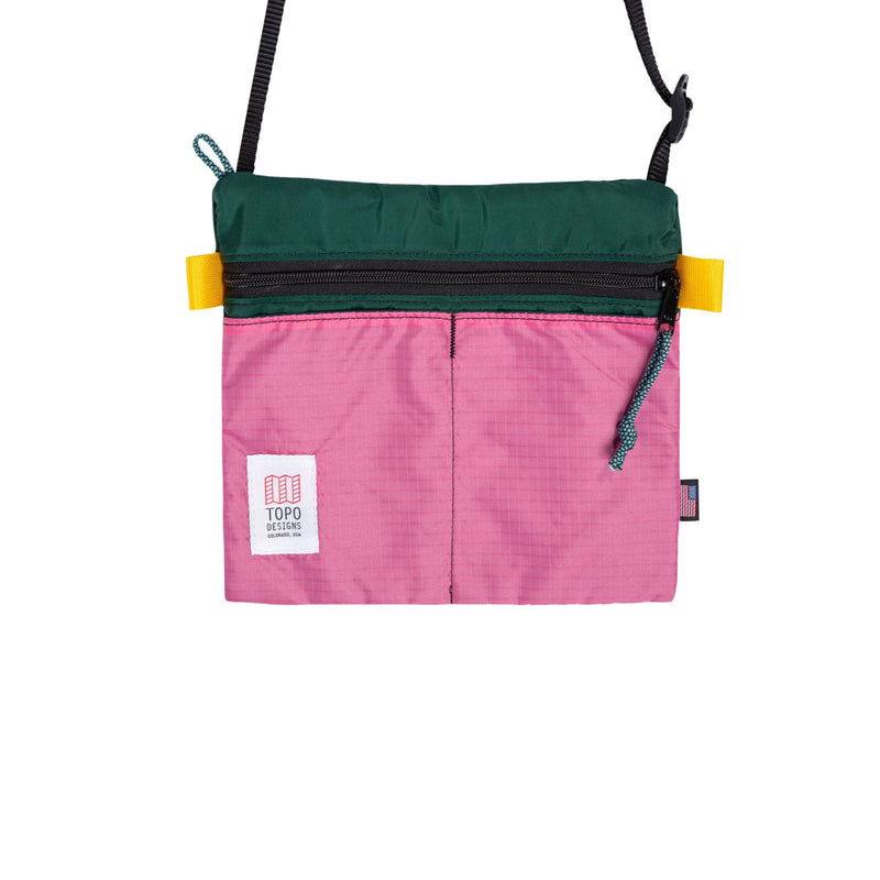 Topo Designs : Accessory Shoulder Bag : Forest/Berry