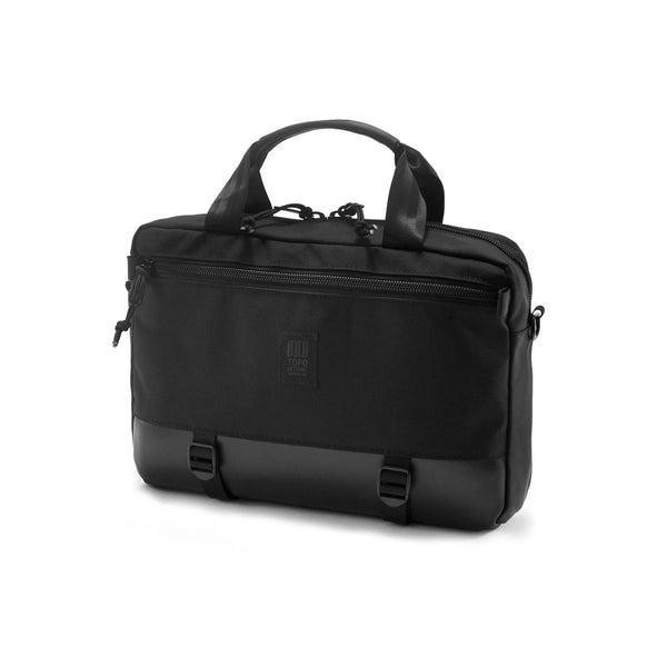 Topo Designs : Commuter Briefcase : Ballistic Black/Black Leather