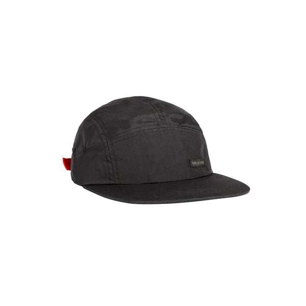 Topo Designs : 5 Panel Nylon Camp Hat : Black