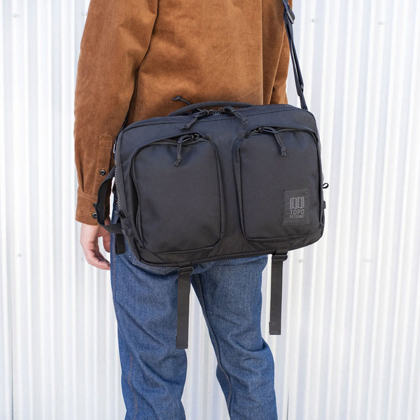 Topo Designs : Global Briefcase : Ballistic Black