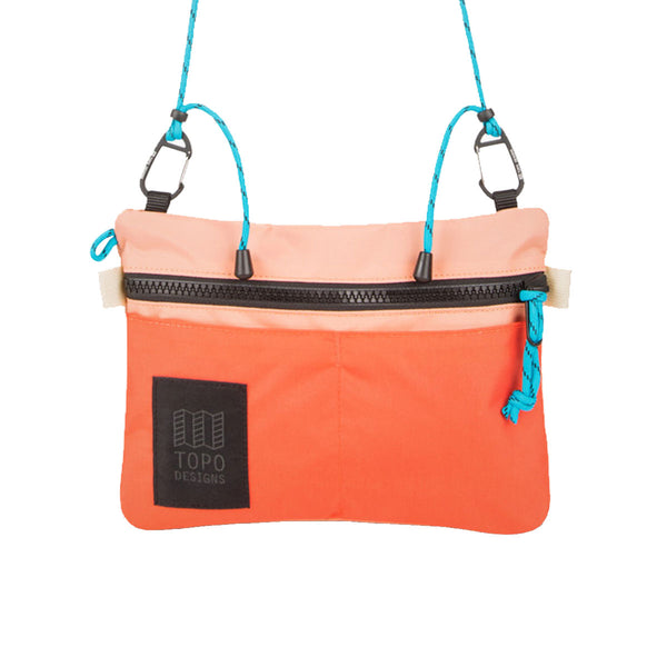 Topo Designs : Carabiner Shoulder Accessory Bag : Hot Coral/ Peach