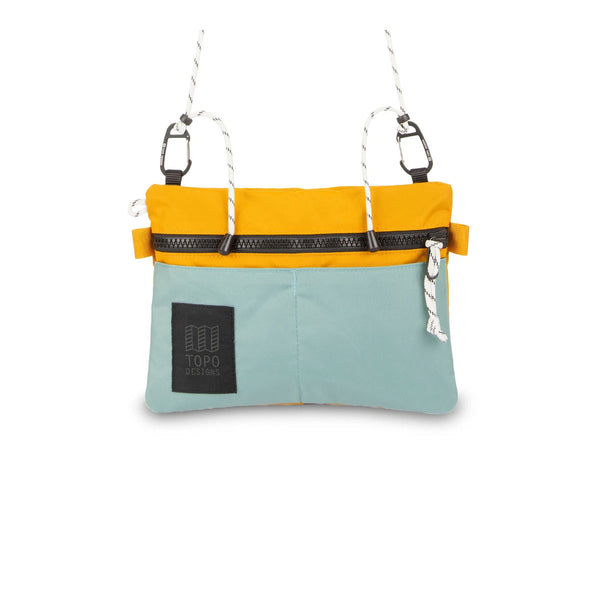 Topo Designs : Carabiner Shoulder Accessory Bag : Sage Mustard