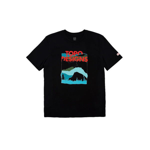 Topo Designs : Red Mountain Tee : Black