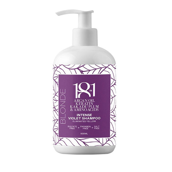 Blonde Intense Violet Shampoo 500ml 18 in 1 - Let it Be Beauty - FREE SHIPPING - Afterpay and zipPay available - Beauty products