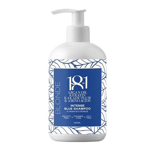 Blonde Intense Blue Shampoo 500ml 18 in 1 - Let it Be Beauty - FREE SHIPPING - Afterpay and zipPay available - Beauty products