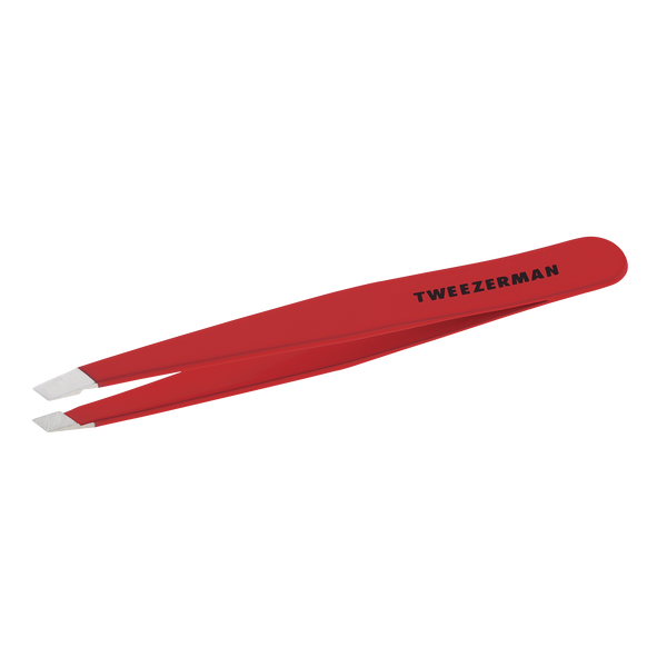 Slant Tweezer - Signature Red Tweezerman - Let it Be Beauty - Free Shipping on orders over $50