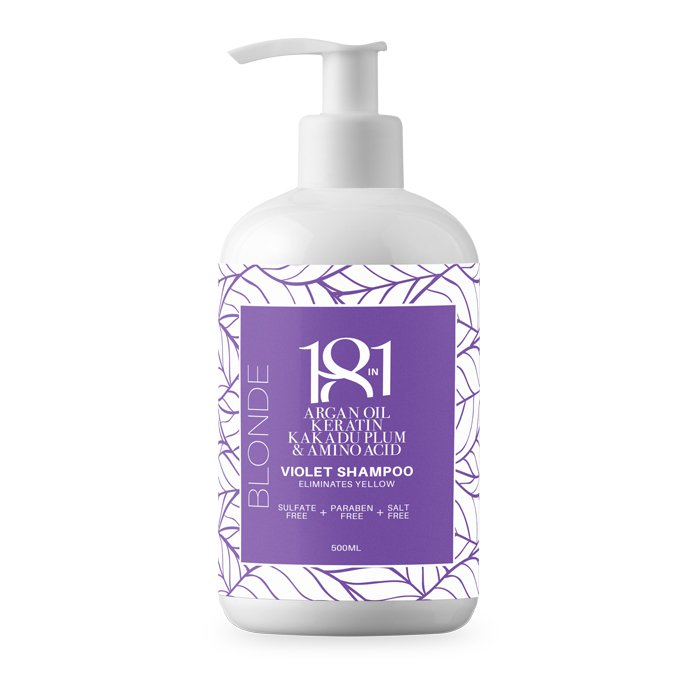 --Blonde Violet Shampoo 500ml 18 in 1 - Let it Be Beauty - Your Online Beauty Store--