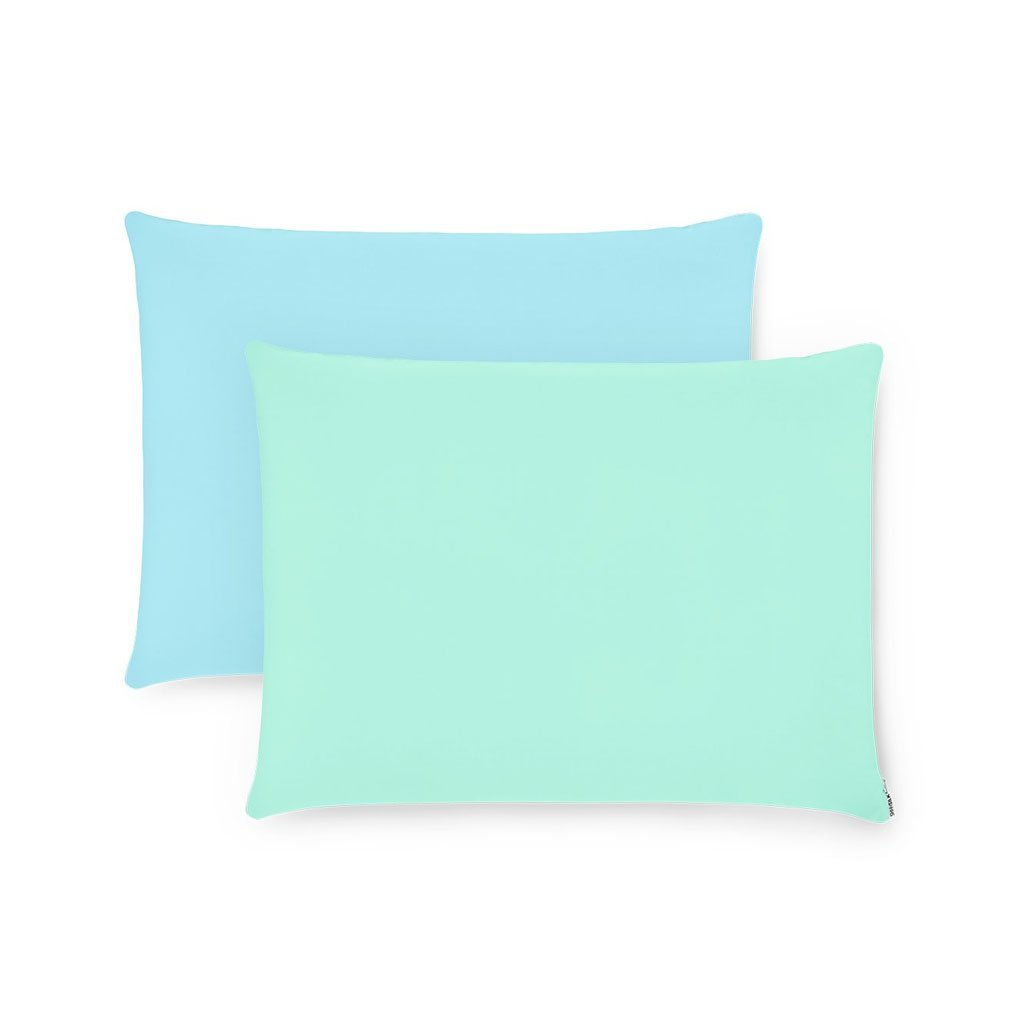 2 Pack Blue & Green Silk Pillowcases