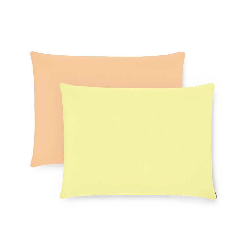 2 Pack Double-Sided Orange & Yellow Silk Pillowcases