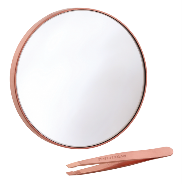 Rose Gold Mini Slant & 10x Mirror Tweezerman - Let it Be Beauty - Your Online Beauty Store