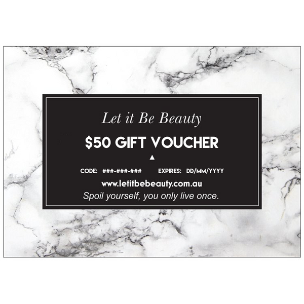 Let it Be Beauty $50 Gift Voucher Let it Be Beauty - Let it Be Beauty FREE Shipping on all orders