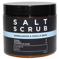 Sandalwood and Vanilla Bean Salt Scrub