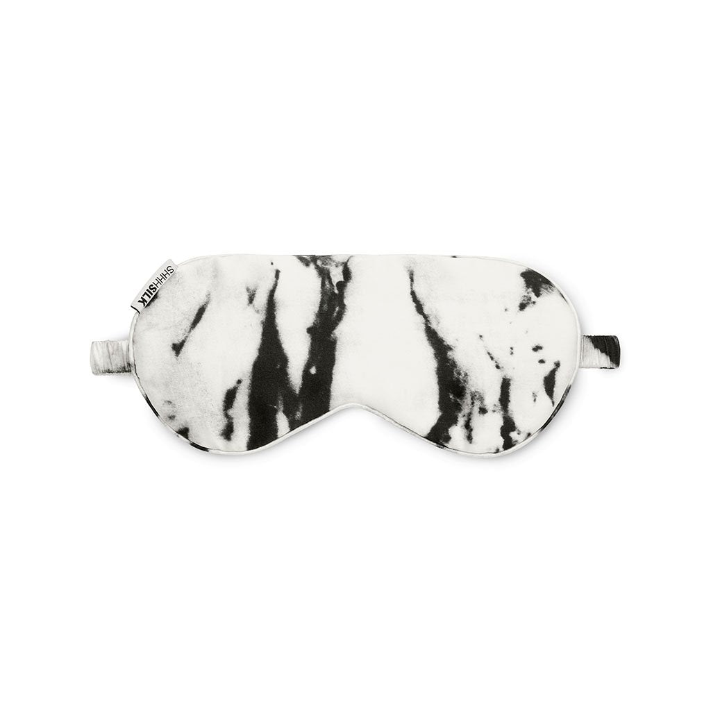 --White Marble Eye Mask Shhh Silk - Let it Be Beauty FREE Shipping on all orders--