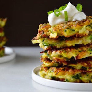 Gluten Free Spiced Corn and Zucchini Fritters