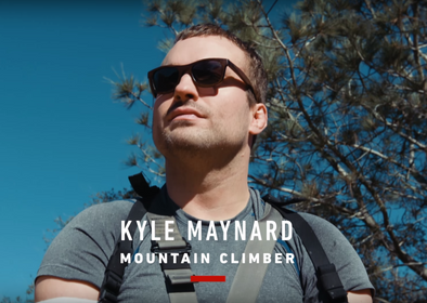 "Kyle Maynard Rocking Sunga Life Bamboo Sunglasses on CNN's ""Great Big Story"""
