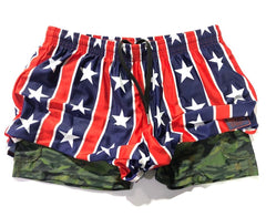 Stars & Stripes USA with Naked Warrior Camo Pocket Silkies | Sunga Life
