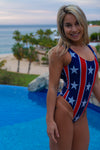 Stars N Bars Open Back One Piece Women's USA Swimsuit | Sunga Life