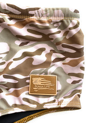 Naked Warrior Desert Camo Lycra Brazilian Sunga Swimwear  | Sunga Life