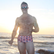 Loudmouth Patriot USA American Flag Brazilian Sunga Swimwear | Sunga Life