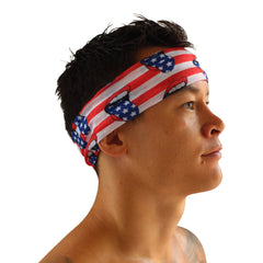 Loudmouth Patriot American Flag USA Headband Bandana  | Sunga Life