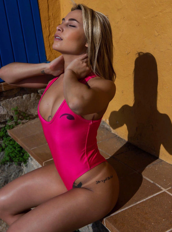 Hot Pink Lycra One Piece Women's Swimsuit | Sunga Life