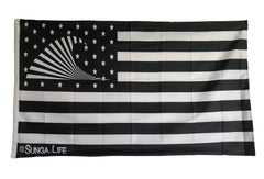 Sunga Life 2-Sided Black & White 3'x5' American Flag