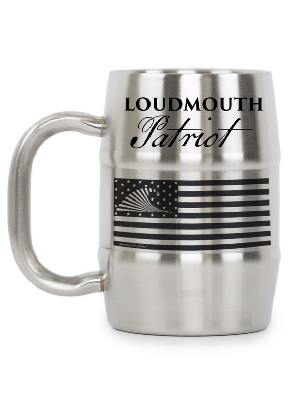 Stainless Steel Loudmouth Patriot Man Mug