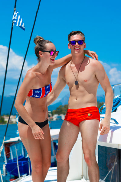 BAEWATCH Red Brazilian Sunga Life Lycra Swimwear | Sunga Life