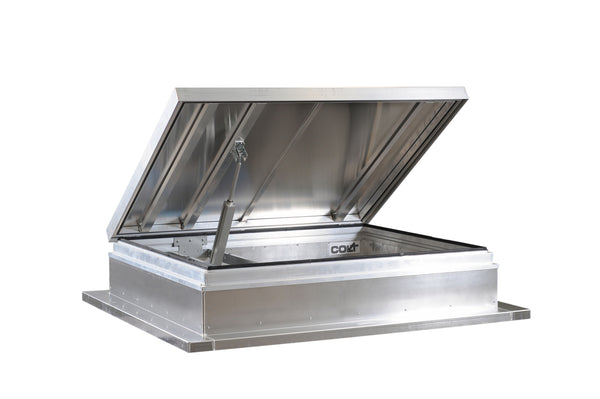 AOV smoke ventilator and roof access hatch