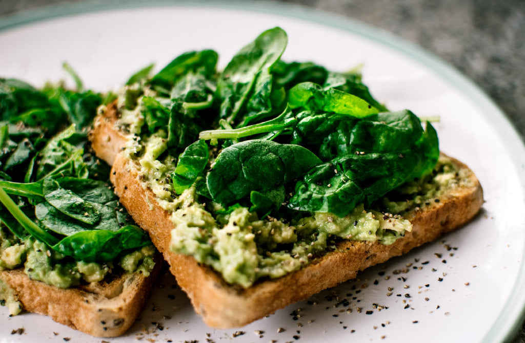 Image of spinach on delicious toast