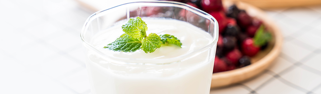 Picture of yogurt for skin care