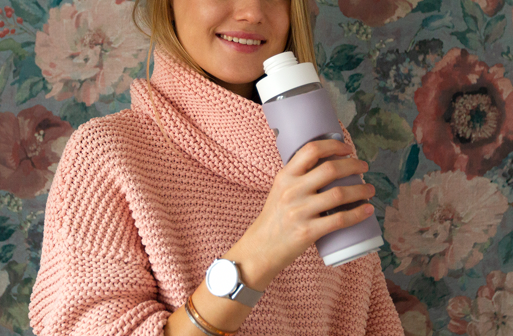 Picture of Time wellness tracker and Spring smart water bottle