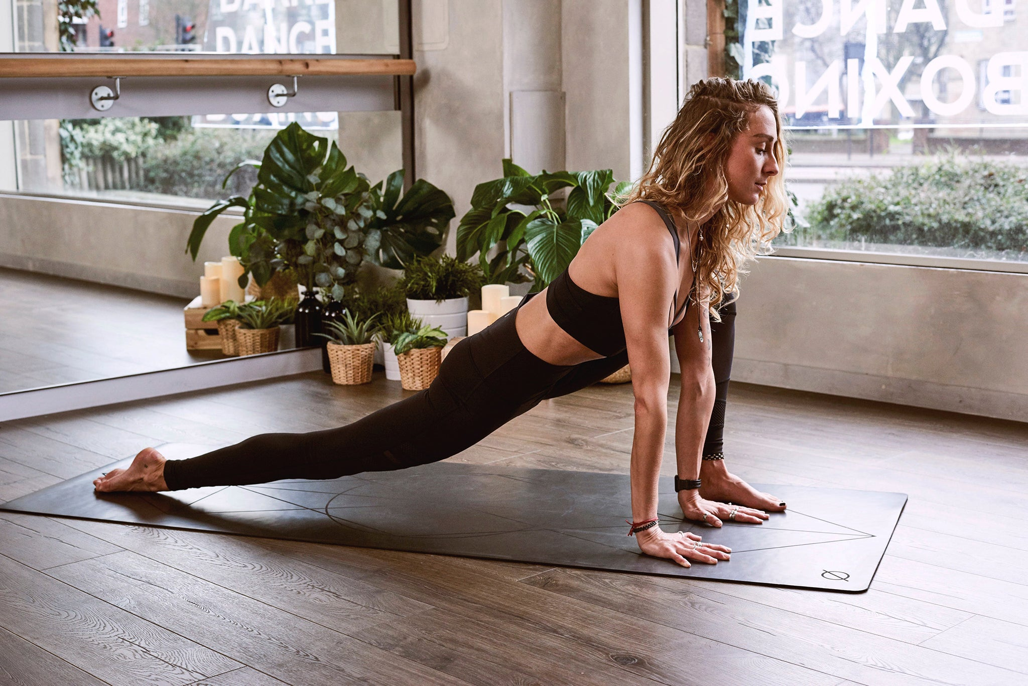 Image of woman doing yoga