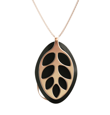 Leaf Gleam Necklace | Rose Gold